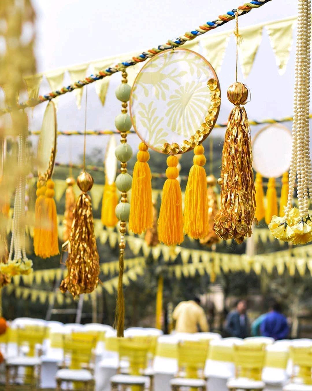 decoration of haldi ceremony