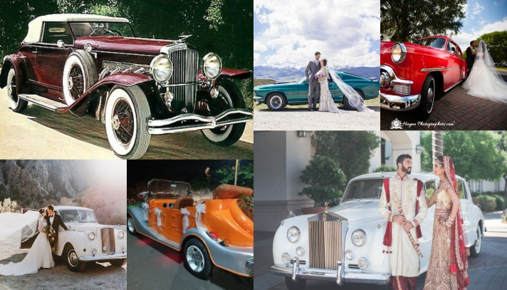 "Old is Gold"" the classic vintage cars wedding entries for the bride & Groom"