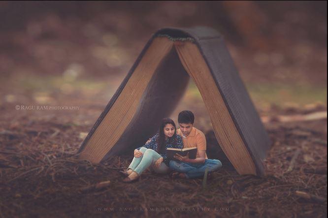 book lover pre wedshoot