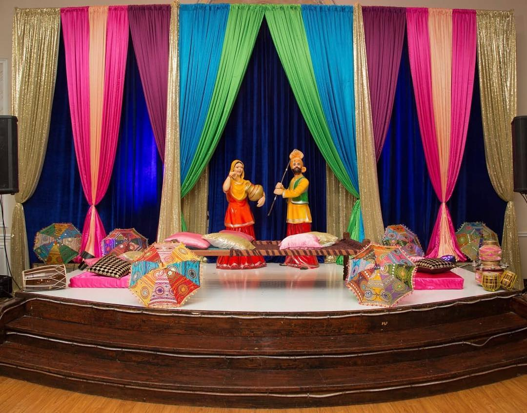 decoration for sangeet