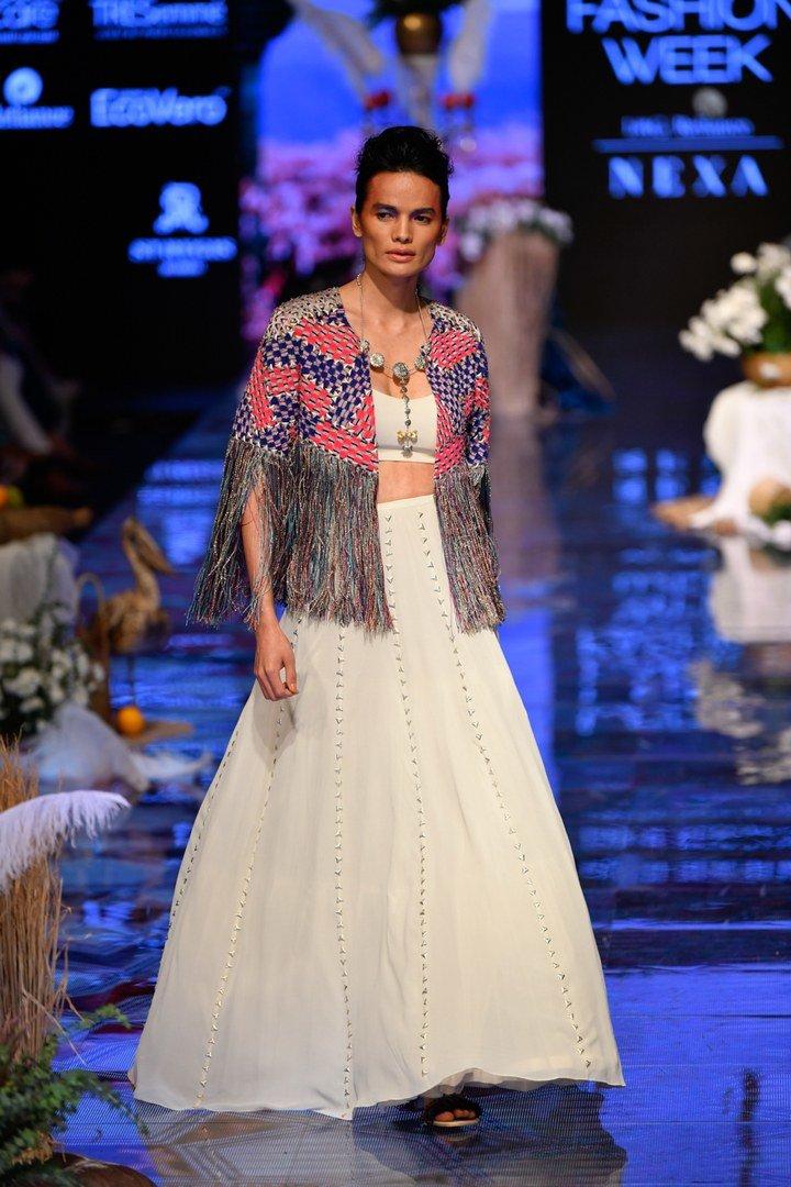 jacket with tessels lakme fashion week
